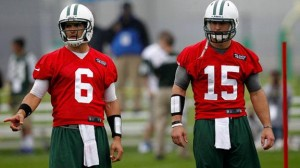 Sanchez, left, and Tebow